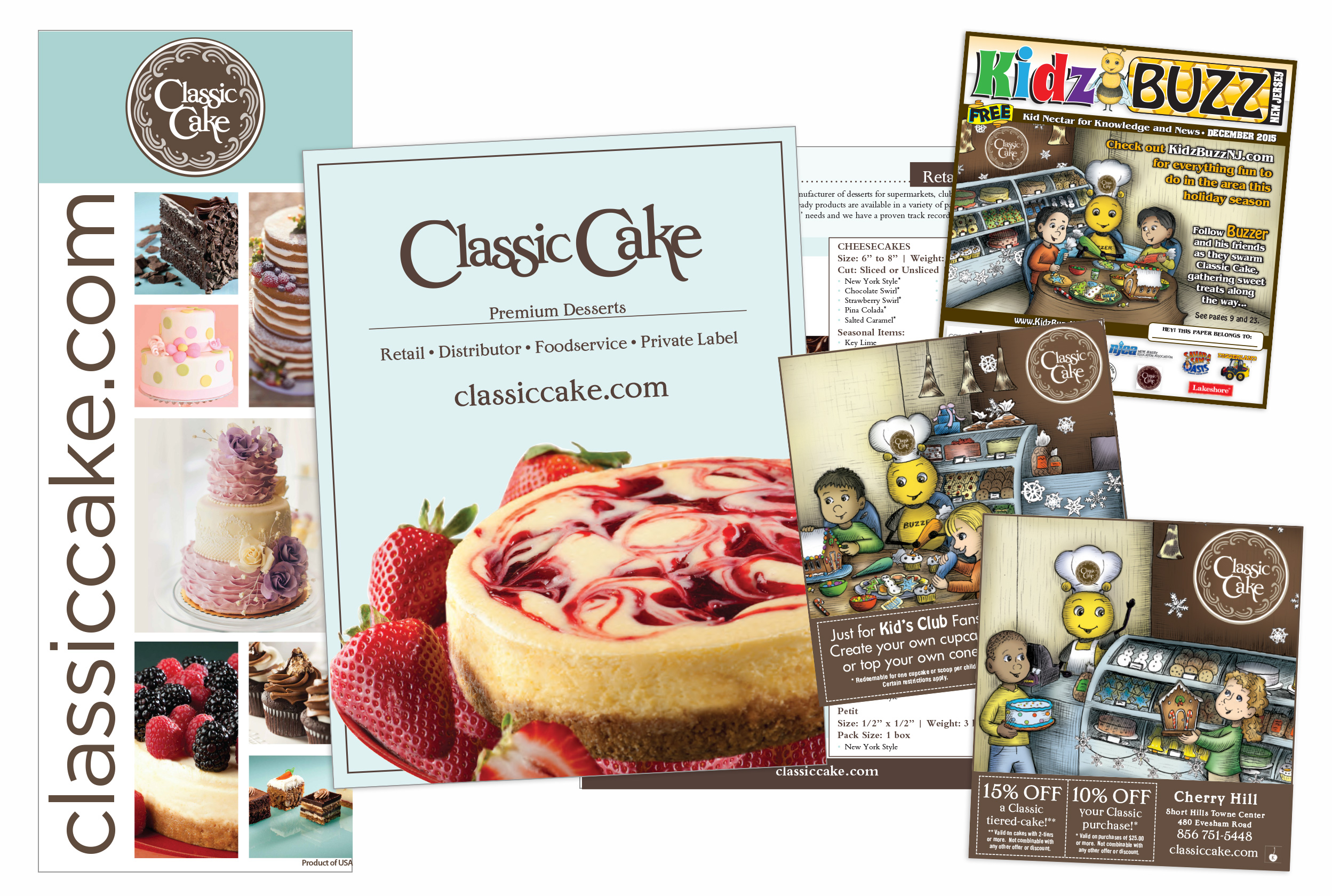 Classic Cake print design samples